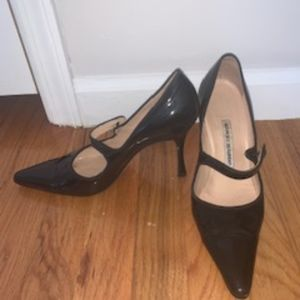 Manolo Blahnik Patent Leather Mary Jane Pumps